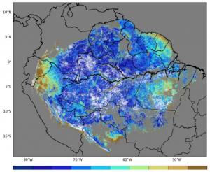 米国の静止気象衛星で明らかになったアマゾン熱帯雨林の植生指数季節変化