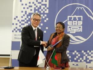 バングラデシュイネ研究所との部局間交流協定締結調印式
