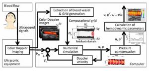図1 2次元超音波計測融合血流解析システム