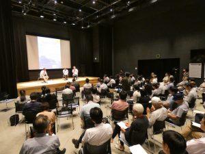 釜石市民の暮らしと復興についての意識調査の<br>結果報告を行なった「危機対応学公開 シンポジウム」