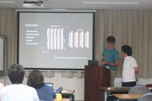 インターン発表会で研究成果を発表するMISIP2019参加学生