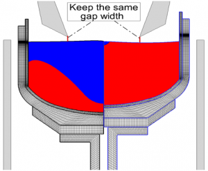 2<sup>nd</sup> stage of Si melting & mesh deformation
