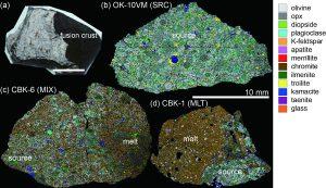 Fig.1 チェリャビンスク隕石の相分布マッピング