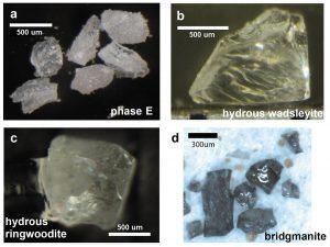 Fig.2 地球深部鉱物の合成単結晶