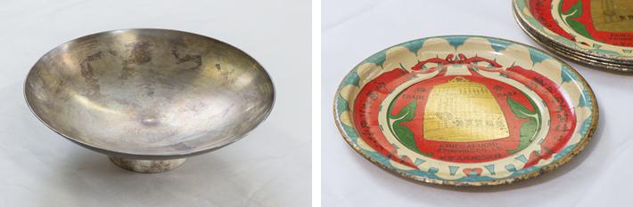 戦前に鐘淵実業(現・クラシエグループ)が勤続30年の社員に贈与していた銀杯と、鐘淵実業が日本の企業で初めてBtoB(企業間取引)で取引先に配った販促品、この他にも、戦時中の物資不足のときにヤツメウナギの革で作った工場作業員用のサンダルなど、貴重な資料が数多く収蔵されている。