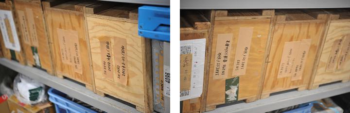 研究室にはこれまでに使われた測器が数多く保存されている。「2014年海鷹丸で回収」、「2015年オーロラ号で回収」時には「電源トラブル発生」など、ほんの数文字の言葉の背景には、現場で起こるさまざまな予想外の出来事が秘められている。