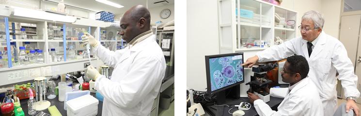 研究センターにはナイジェリアやスーダンなど、多くの乾燥地の国から国費で研究者が派遣され、最新の農業を学んでいる。帰国した後もずっと続く彼らとのネットワークは、研究所にとってかけがえのない財産だ。