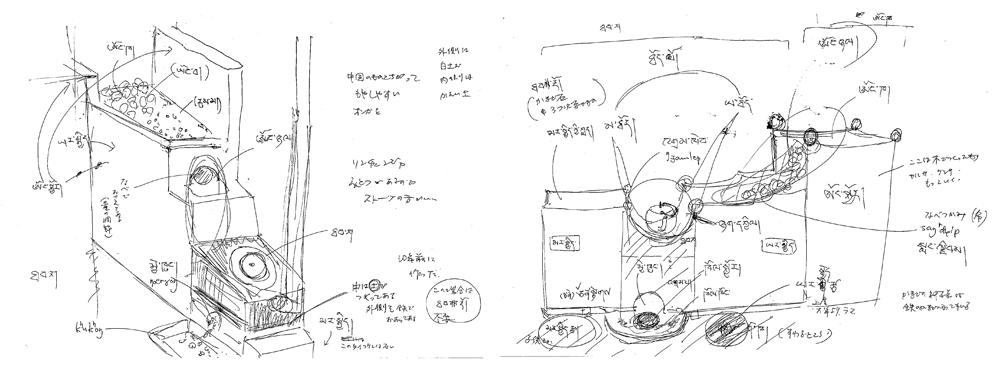 フィールドノートに記されたイラスト入りの詳細なメモは、星教授が現地で記録してきたものだ。