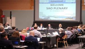 2018年3月北極評議会上級実務者会合の様子  <br>[フィンランド・キッティラにて]