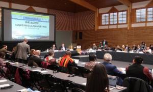 2018年3月北極評議会持続可能な開発作業部会の定例会合の様子  [フィンランド・キッティラにて]