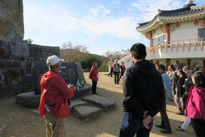対馬・釜山国境観光ツアーの様子